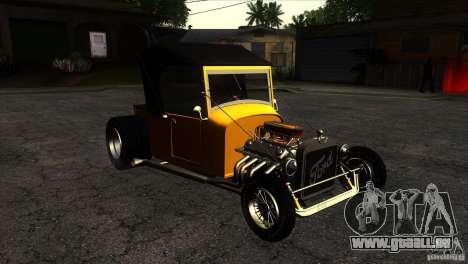 Ford T 1927 Hot Rod pour GTA San Andreas vue arrière
