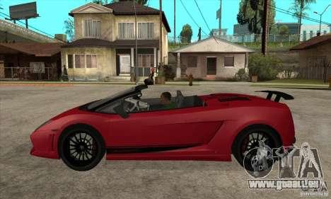 Lamborghini LP570-4 Performante 2011 pour GTA San Andreas laissé vue