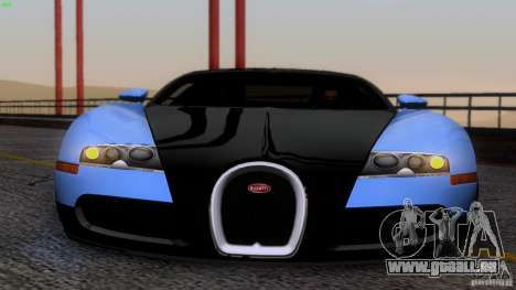 Bugatti Veyron 16.4 pour GTA San Andreas vue de dessus