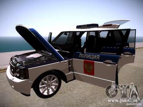 Range Rover Supercharged 2008 Police DEPARTMENT pour GTA San Andreas vue de dessus