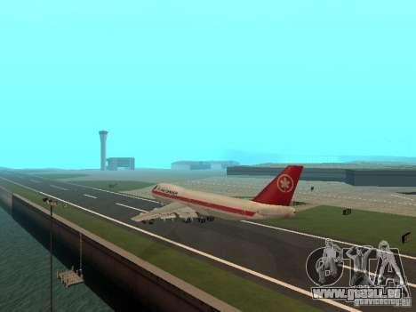 Boeing 747 Air Canada für GTA San Andreas rechten Ansicht