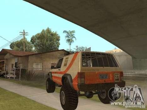 Jeep Cherokee 1984 für GTA San Andreas Rückansicht