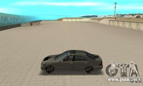 Mercedes Benz AMG S65 DUB pour GTA San Andreas laissé vue