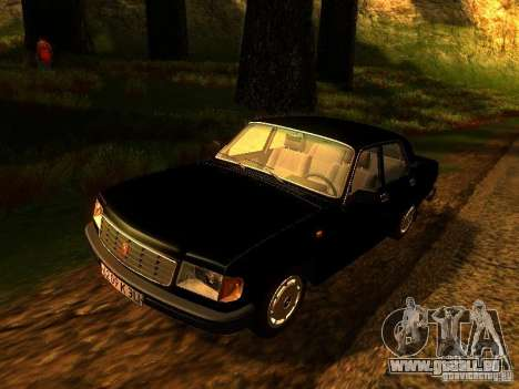 Volga GAZ 31029 für GTA San Andreas Rückansicht