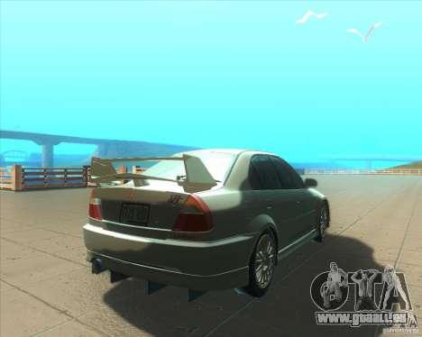 Mitsubishi Lancer Evolution VI 1999 Tunable pour GTA San Andreas roue