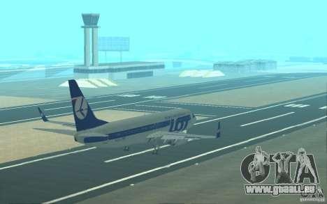 Boeing 737 LOT Polish Airlines pour GTA San Andreas moteur