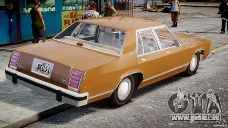 Ford Crown Victoria 1983 für GTA 4 hinten links Ansicht