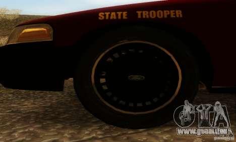 Ford Crown Victoria Minnesota Police für GTA San Andreas zurück linke Ansicht