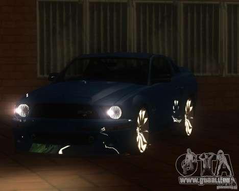 Shelby Mustang 2009 pour GTA San Andreas sur la vue arrière gauche