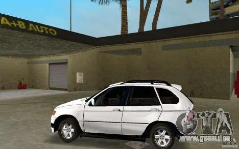 BMW X5 pour une vue GTA Vice City de la gauche