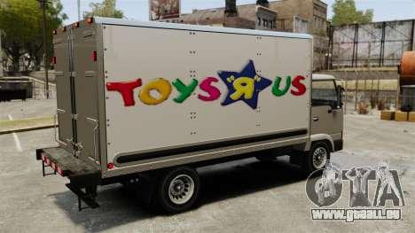 Nouvelles publicités pour le camion, Mule pour GTA 4 est une vue de l'intérieur