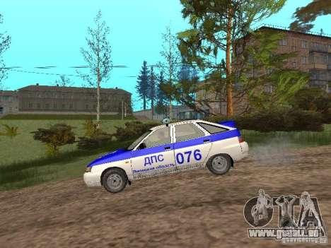 VAZ 21124 DPS pour GTA San Andreas sur la vue arrière gauche