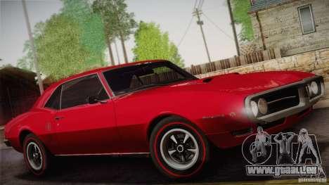 Pontiac Firebird 400 (2337) 1968 pour GTA San Andreas roue