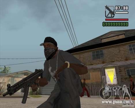 New MP5 (Submachine gun) für GTA San Andreas dritten Screenshot