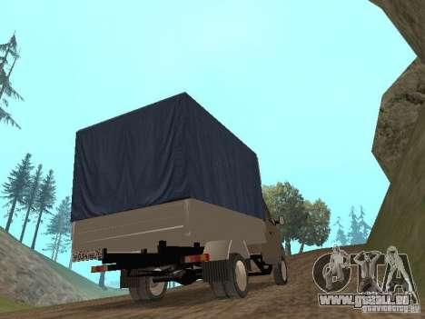 GAZ 3302 im Jahr 2001. für GTA San Andreas zurück linke Ansicht