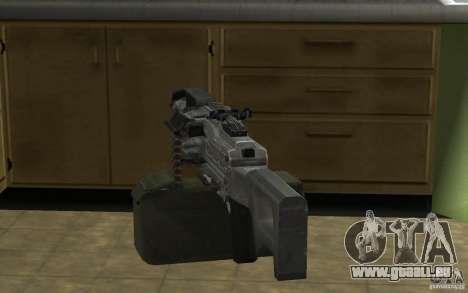 PKP petchenègue mitrailleuse pour GTA San Andreas quatrième écran
