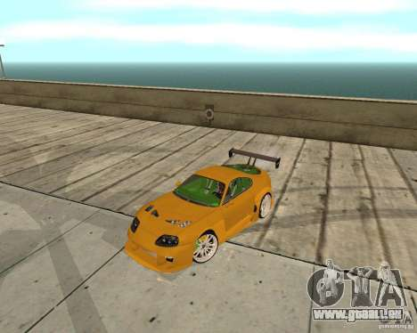 Toyota Supra TwinTurbo pour GTA San Andreas vue intérieure