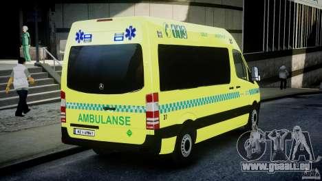 Mercedes-Benz Sprinter PK731 Ambulance [ELS] für GTA 4 Seitenansicht