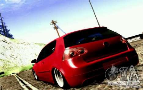 Volkswagen Golf GTI für GTA San Andreas Rückansicht