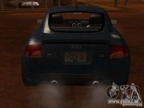 Audi TT 3.2 Quattro pour GTA San Andreas vue arrière