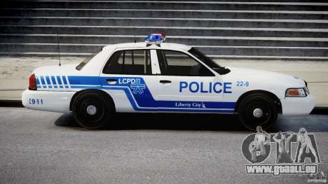 Ford Crown Victoria CVPI-V4.4M [ELS] pour GTA 4 Vue arrière
