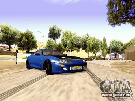 Toyota Supra Drift Edition pour GTA San Andreas sur la vue arrière gauche