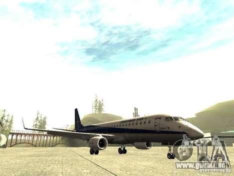 Embraer E-190 pour GTA San Andreas laissé vue