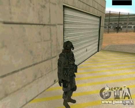 Peau du soldat de CODMW 2 pour GTA San Andreas deuxième écran
