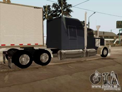 Western Star 4900 Aust pour GTA San Andreas sur la vue arrière gauche