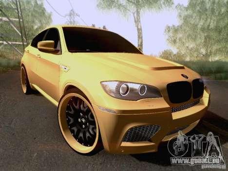 BMW X6M Hamann für GTA San Andreas Unteransicht
