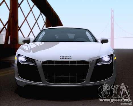 Audi R8 v10 2010 pour GTA San Andreas sur la vue arrière gauche