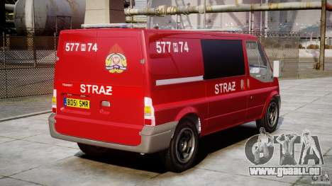 Ford Transit Polish Firetruck [ELS] für GTA 4 Innenansicht