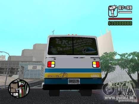 Cuatro Ases M.Benz LO608D für GTA San Andreas rechten Ansicht