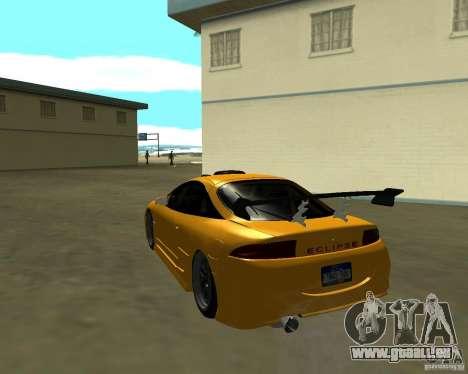Mitsubushi Eclipse GSX tuning für GTA San Andreas zurück linke Ansicht