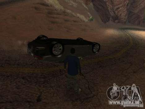 Voitures renversées ne brûlent pas pour GTA San Andreas quatrième écran