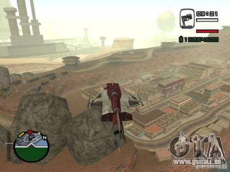 Chasseur de la ville de Alien pour GTA San Andreas laissé vue