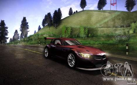 BMW Z4 E89 GT3 2010 pour GTA San Andreas sur la vue arrière gauche