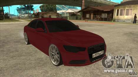 Audi A6 (C7) pour GTA San Andreas vue arrière