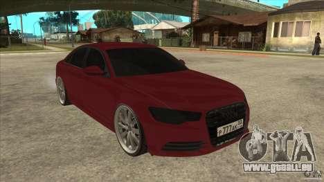 Audi A6 (C7) für GTA San Andreas Rückansicht