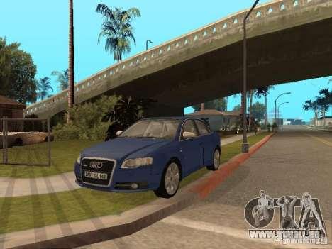 Audi S4 pour GTA San Andreas vue de dessus