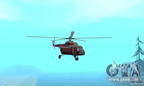 MI-17 zivil (Deutsch) für GTA San Andreas Innenansicht