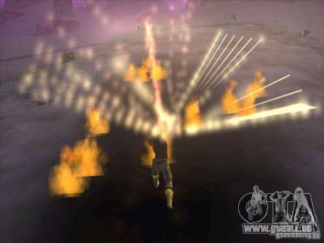 Épée de feu pour c Jay pour GTA San Andreas quatrième écran