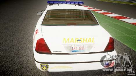 Ford Crown Victoria US Marshal [ELS] pour GTA 4 Salon