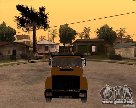 ZIL MMZ 4516 pour GTA San Andreas vue arrière