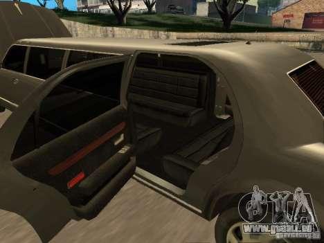 HD Stretch pour GTA San Andreas vue intérieure