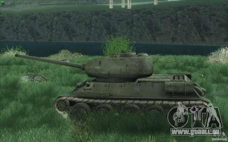 T-34-85 depuis le jeu COD World at War pour GTA San Andreas vue arrière