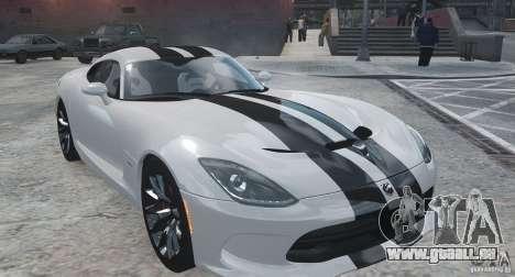 Dodge Viper SRT GTS 2013 pour GTA 4 est un droit
