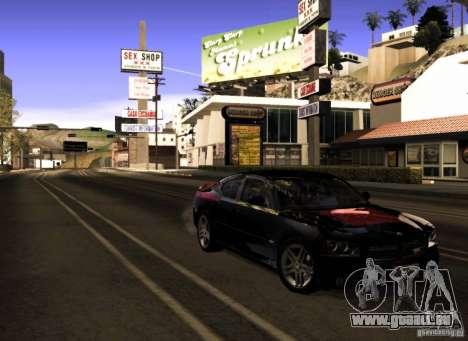 Dodge Charger R/T Daytona für GTA San Andreas Unteransicht