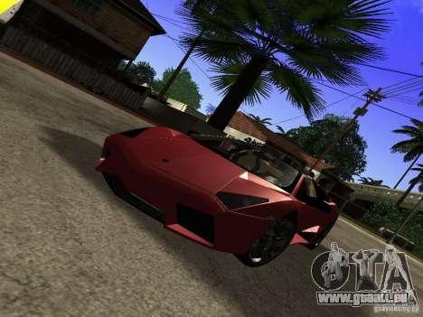 Lamborghini Reventon Roadster pour GTA San Andreas vue de droite