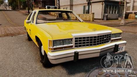 Ford LTD Crown Victoria 1987 L.C.C. Taxi pour GTA 4